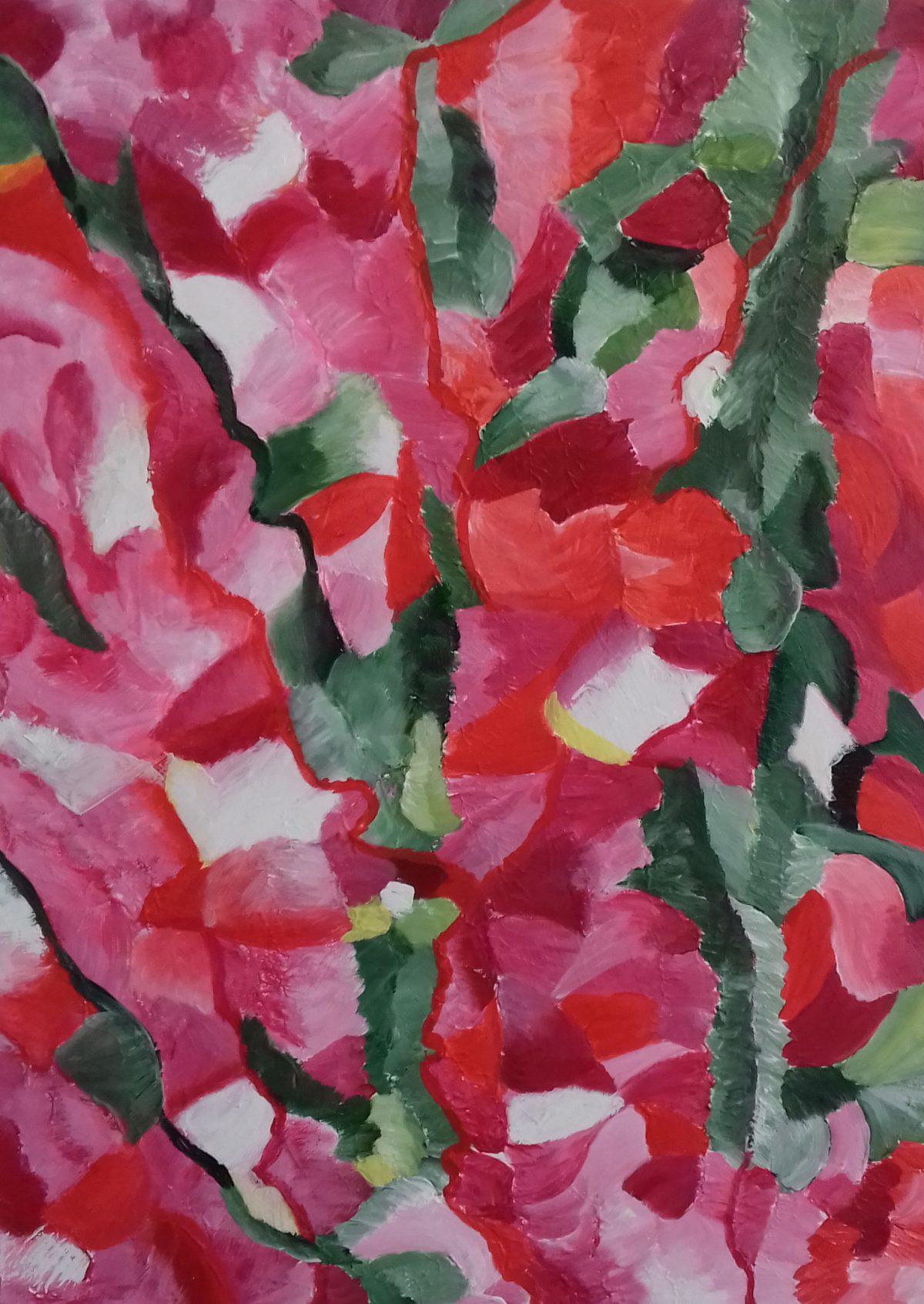 artiste peintre biarritz champs coquelicots - 1