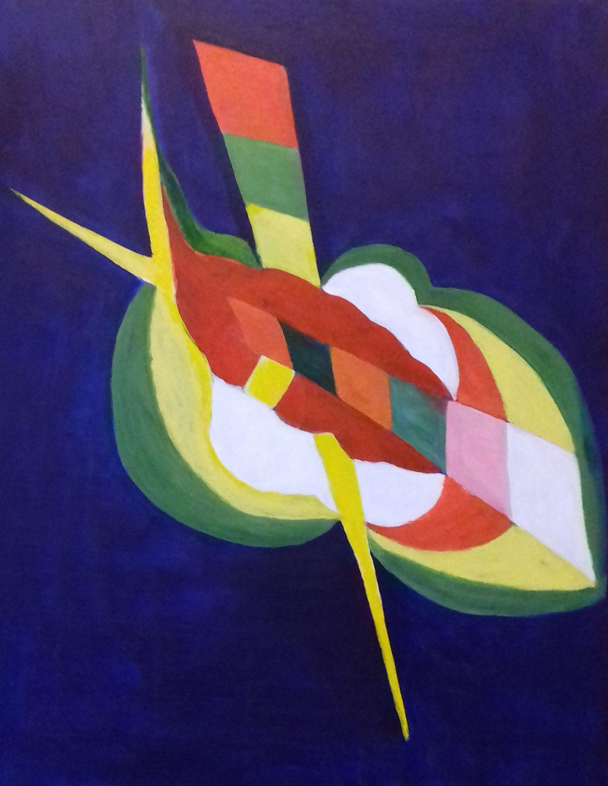 artiste peintre biarritz feuille percee - 1