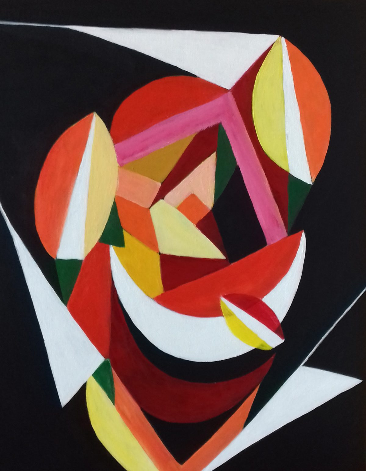 artiste peintre biarritz trois triangles blancs - 1
